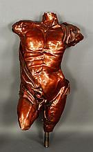 Contemporary Copper Torso with Stand