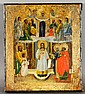 Russian Icon with 14 Figures