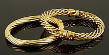 Two 14K Yellow Gold Bracelets