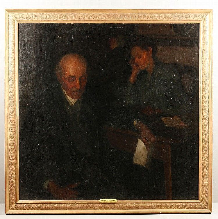 Walters, Reading Letter, O/C