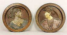 Pair of Late 19th C. Bronze Plaques