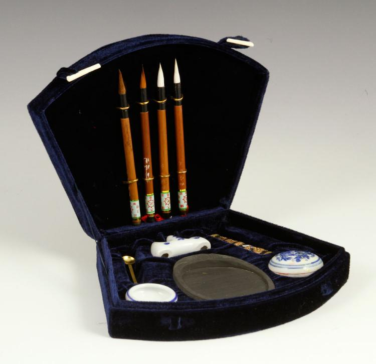 Early 20th C Chinese Calligraphy Set