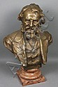 19th C. Bronze Sculpture, Longfellow, H. Muller, Hans (1873) Müller, Click for value