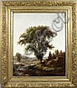 Signed W.H. Hilliard, Landscape, o/c, 1875, William Henry Hilliard, Click for value
