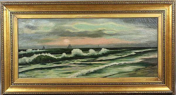 J.O. Davidson (American, 1853-1894), mariner scene, 19th C., O/C