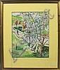 Frank Carson, Landscape w/Horse, W/C, Frank Carson, Click for value