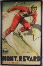 C1935 Mont Revard Ski Poster by Paul Ordner