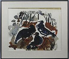 Gustav Hessing (Romanian, 1909-1981), 'Three