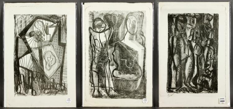 Richard Gentry Ayer, Three Abstract Stone Lithographs