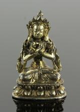 19th C. Chinese Gilt Silver Buddha Figure