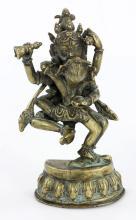 19th C. Chinese Bronze Yab Yum Buddha