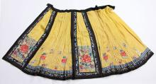 19th C. Chinese Embroidered Skirt