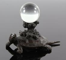 Japanese Bronze Turtle Figure
