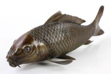 Japanese Meiji Period Bronze Carp