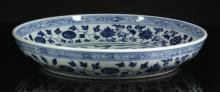 Chinese Blue and White Ming Style Plate