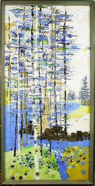 20th C., Ronald Christensen, Wind of a River, o/b