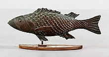 Copper Fish Weathervane