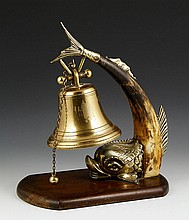 19th C. English Brass Dinner Bell