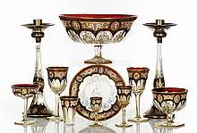 Czech Enamel-Decorated Glass Service