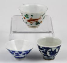 3 Japanese and Chinese Mini Cups