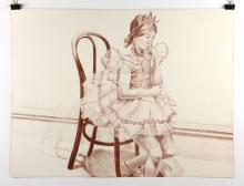 Pearlstein, Girl in Ballerina Dress, Lithograph