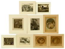Collection of 9 Engravings