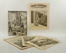 Lot of Assorted Woodcut Prints