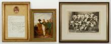 Three Framed Items