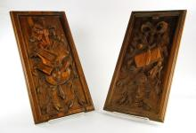 Pr. Enkeboll Carved Plaques
