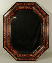 The Squires Company Hand-Painted Faux Tortoiseshell Mirror