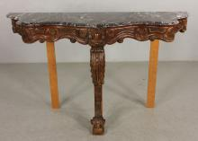 19th C. Italian Walnut Pier Table