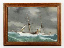 Steam Yacht in Rolling Seas, W/C