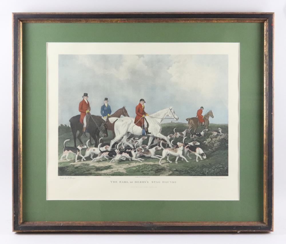 Framed and Matted Hunt Motif Print