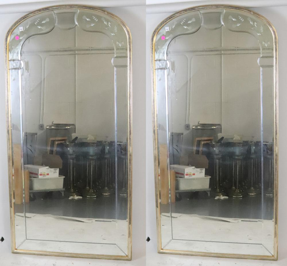 Pair of Vintage Gold and Silver Gilt Framed Mirrors