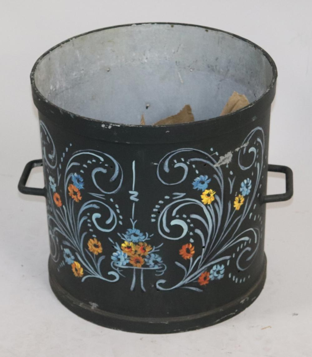Dutch Painted Iron Container