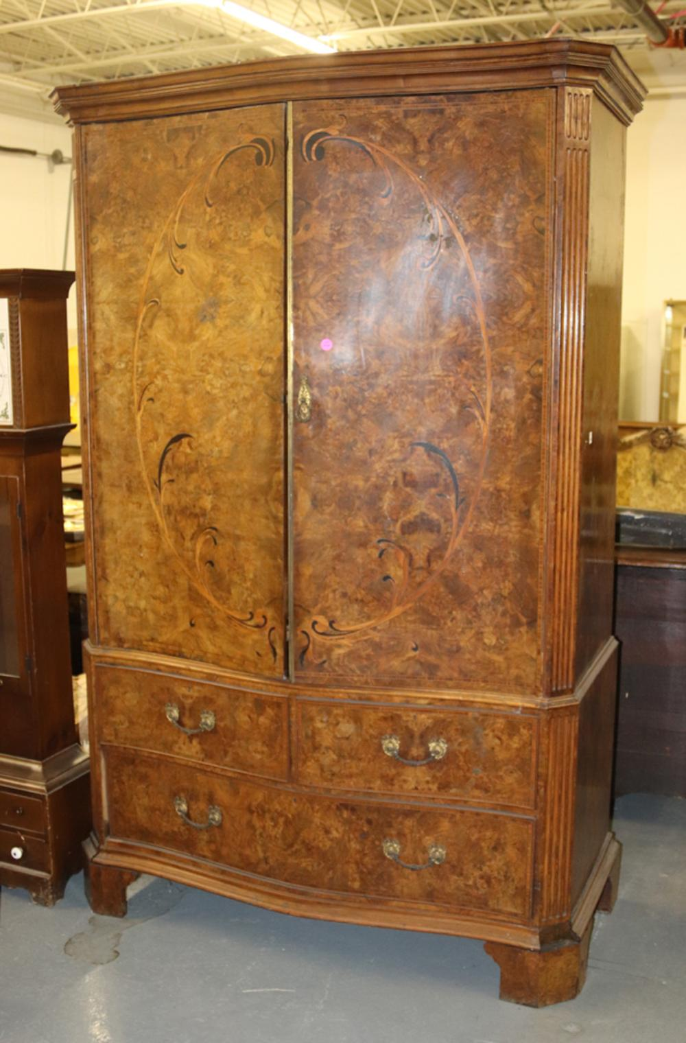 Continental Burl Wood Armoire