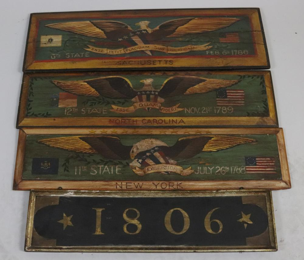 Group of Painted Wooden Plaques
