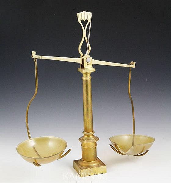 19th C. French Brass Balance Scale