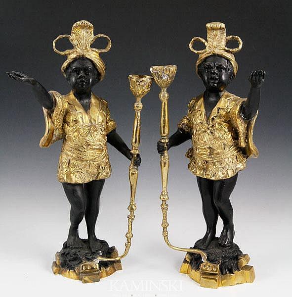 2 Brass Blackamoors
