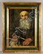 Portrait of Elderly Man, O/B