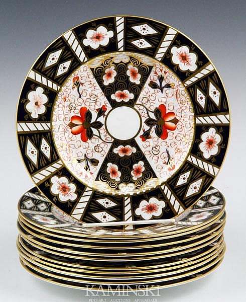 11 Royal Crown Derby Imari Plates
