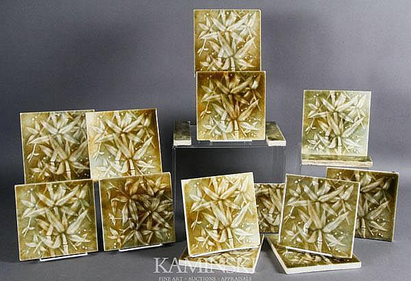 12 Leaf Motif Tiles