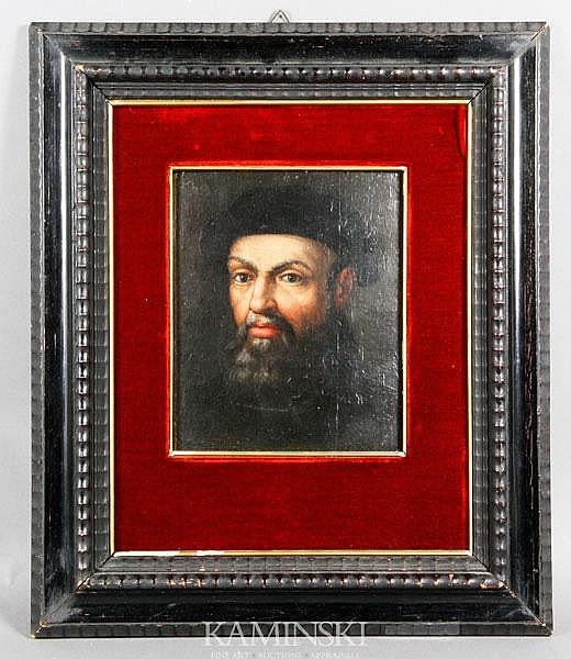 19th C. Portrait of Ferdinando Megalo, O/B