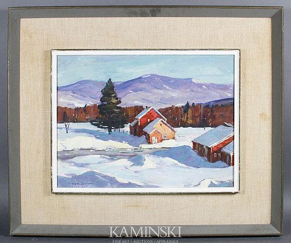 Bryan, Vermont Snow Scene, O/C