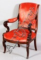 Early 19th C. Boston Classical Armchair