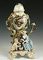 19th C. Meissen Figural Perforated Vase