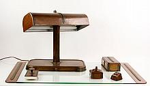 Arts and Crafts Copper Desk Set