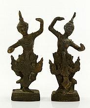 Pr. Thai Bronze Figures