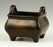 Chinese 19th C. Bronze Censer