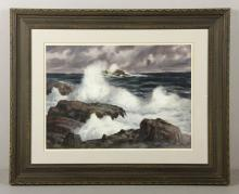 Santoro, Crashing Waves, Watercolor